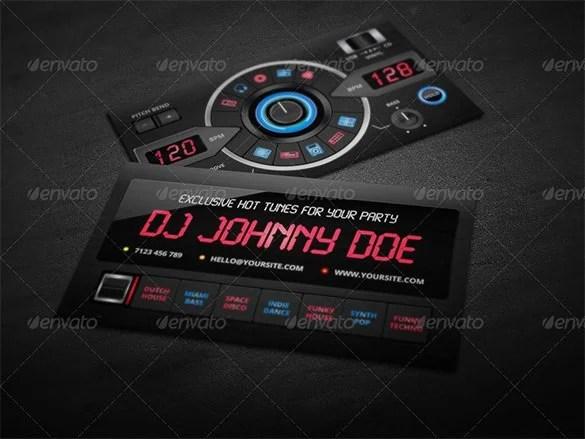 25+ DJ Business Cards Free Download Free  Premium Templates