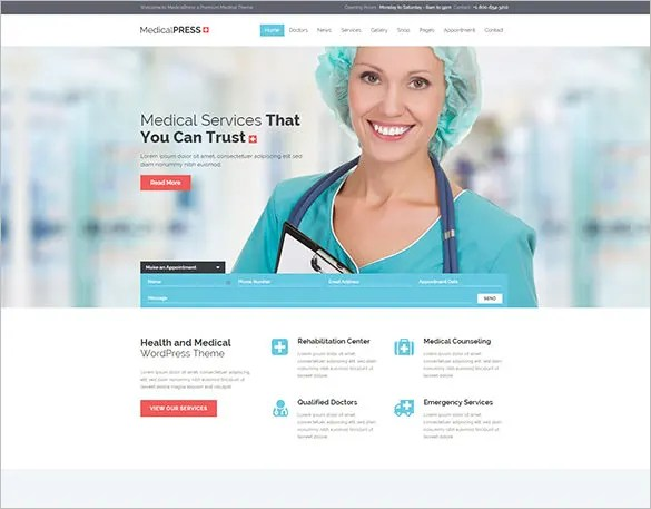 20+ Medical Bootstrap Themes  Templates Free  Premium Templates