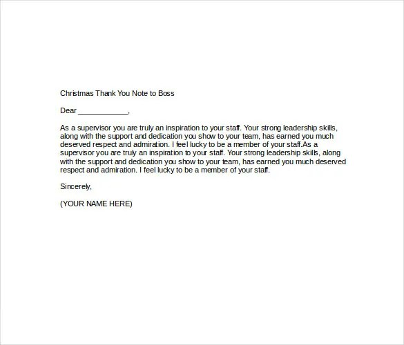 Christmas Thank You Note \u2013 8+ Free Word, Excel, PDF Format Download