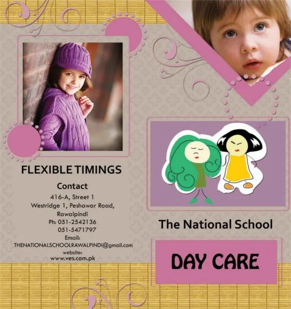14+ Daycare Brochure Templates \u2013 Free PSD, EPS, Illustrator, AI, PDF