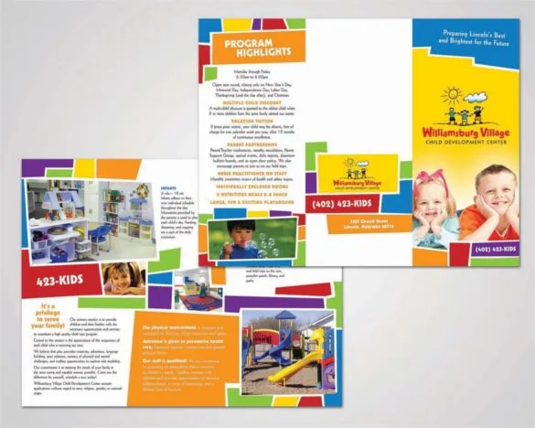 daycare brochure sample - Selol-ink