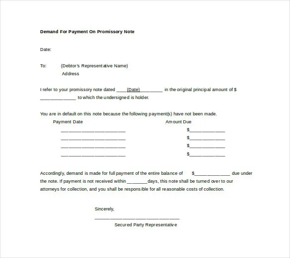 Demand Note Template \u2013 5+ Free Word, PDF Format Download! Free