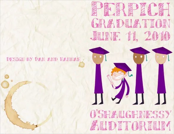 14+ Graduation Brochure Templates \u2013 Free PSD, EPS, Illustrator, AI - graduation program template pdf