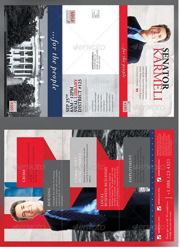 9+ Election Brochure Templates \u2013 Free PSD, EPS, Illustrator, AI, PDF - political brochure