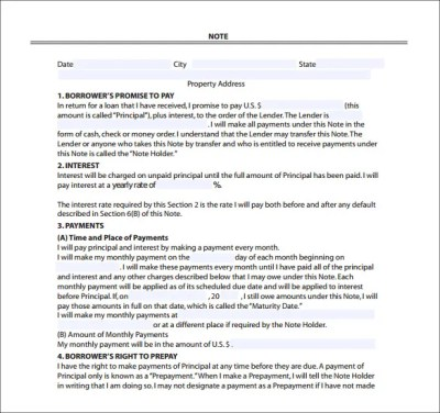 8+ Mortgage Note Templates – Free Sample, Example, Format Download!   Free & Premium Templates