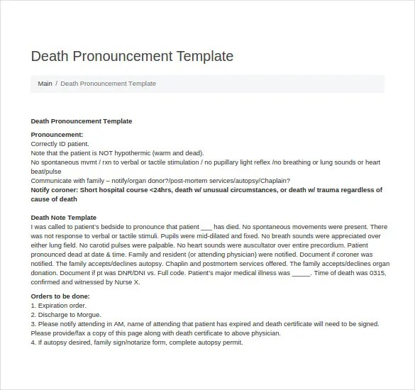 5+ Death Note Templates u2013 Free Sample, Example, Format Download - patient note
