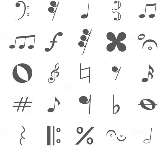 Musical Note Template \u2013 9+ Free PDF, EPS Format Download! Free