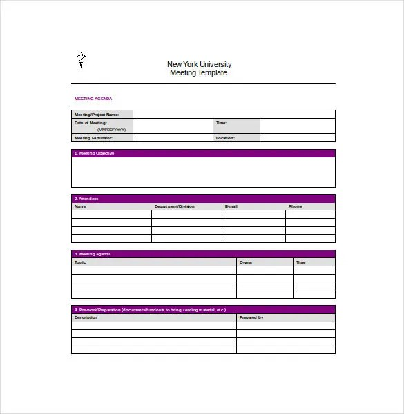 Meeting Notes Template - 28+ Free Word, PDF Documents Download - Notes Template Word
