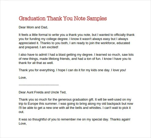 Sample Mom Thank You Letter 12+ thank you note templates u2013 - sample mom thank you letter