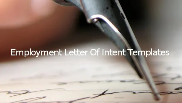 11+ Sample Employment Letter of Intent Templates - PDF, DOC Free