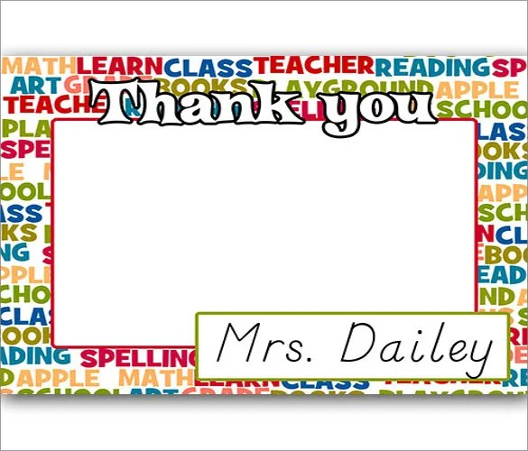 10+ Thank You Notes For Teachers \u2013 Free Sample, Example,Format - free thank you notes templates