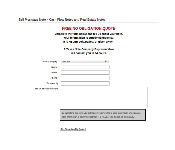 8+ Mortgage Note Templates \u2013 Free Sample, Example, Format Download