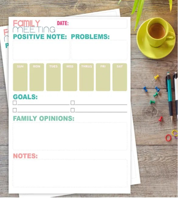 9+ Meeting Note Templates \u2013 Free Sample, Example, Format Download