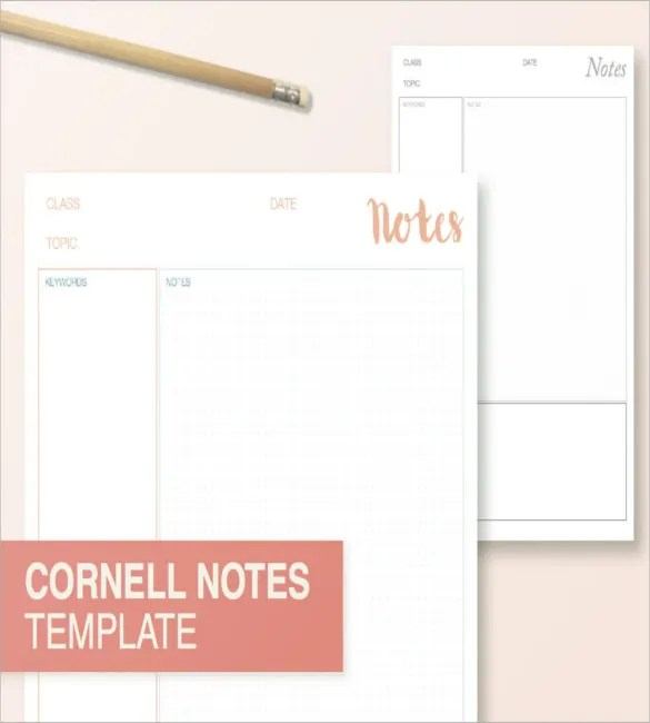 Cornell Note Taking Template - 8+ Free Word, Excel, PDF Format