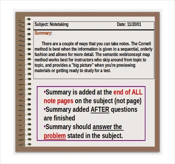 Cornell Notes Powerpoint u2013 6+ Free Powerpoint, PPTX, POTX Format - cornell note template