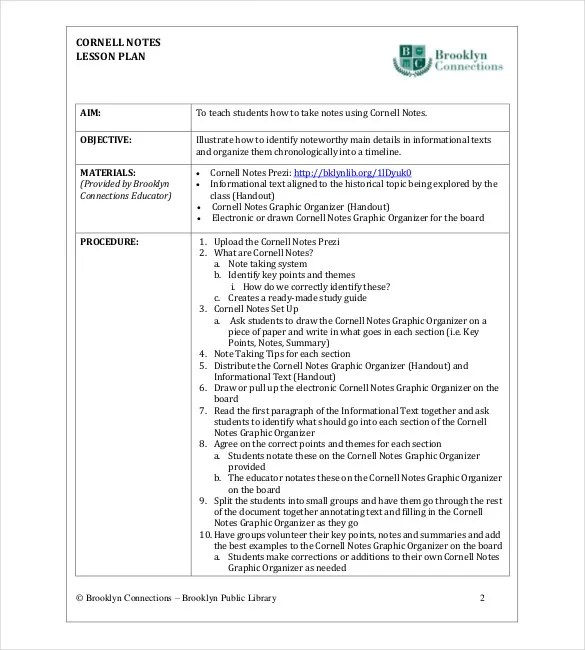 Cornell Notes Template for MAC \u2013 8+ Free Wodr, Excel, PPT, PDF