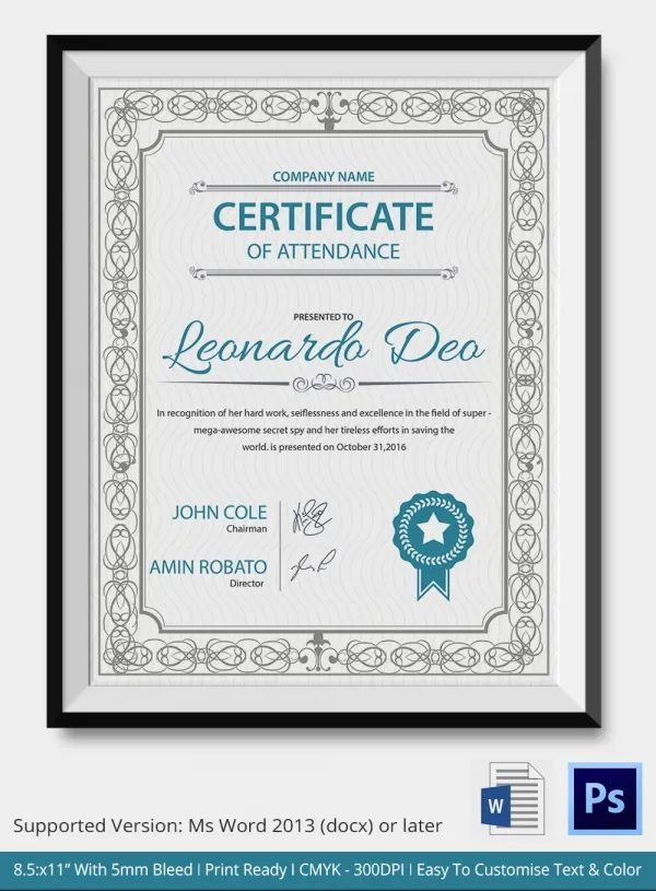 how to make certificate in word