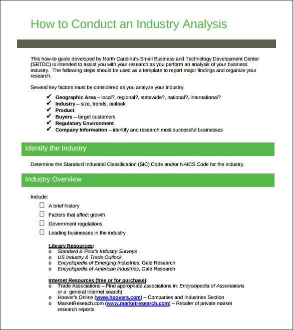 10+ Industry Analysis Templates - DOC, PDF Free  Premium Templates