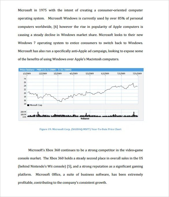 Great Stock Market Analysis Sample StaruptalentCom