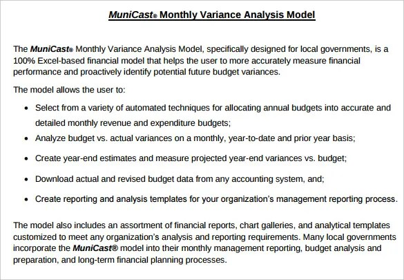 Budget Analysis Template \u2013 6+ Free Word, Excel, PDF Format Download - analytical report template