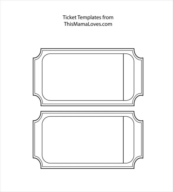 Blank Template u2013 24+ Free Word, Excel, PDF, PSD, EPS Documents - blank ticket template