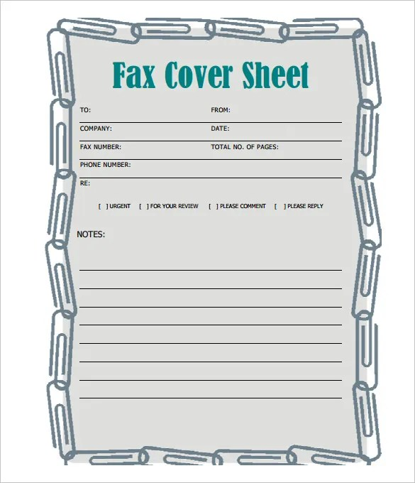 Fax Cover Sheet \u2013 13+ Free Word, PDF Documents Download! Free - Fax Cover Sheet For Word