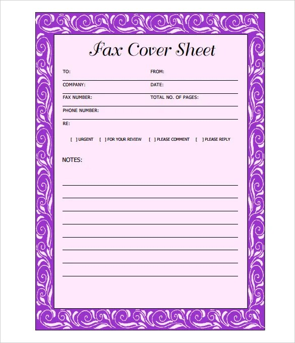 Fax Cover Sheet Template - 14+ Free Word, PDF Documents Download