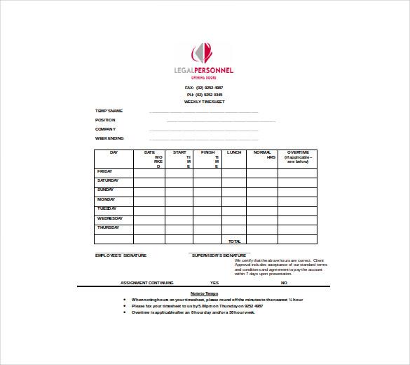 TimeSheet Template u2013 21+ Free Word, Excel, PDF Documents Download - free timesheet template word