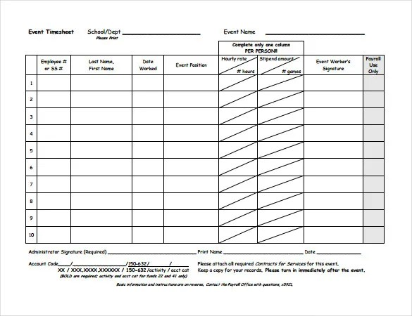 Timesheet Templates \u2013 35+ Free Word, Excel, PDF Documents Download