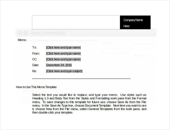 Professional Memo Template Word – Memo Template Free Download