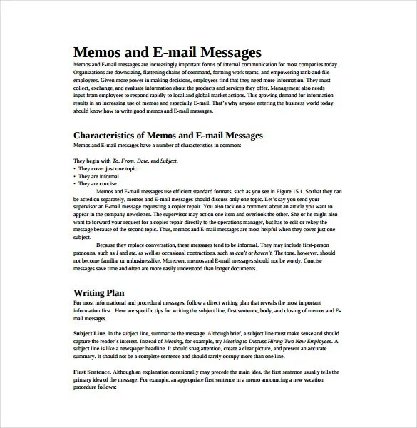 Memo Templates \u2013 22+ Free Word, PDF Documents Download! Free