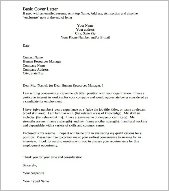 Cover Letter Template \u2013 17+ Free Word, PDF Documents Download