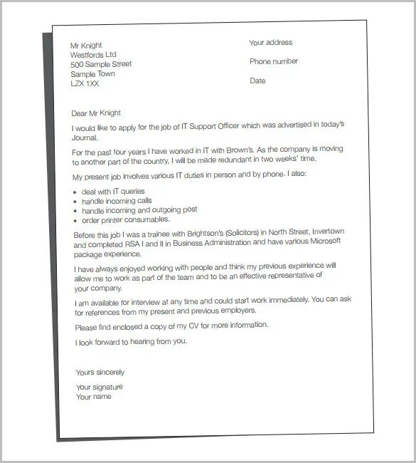 how to send cv and cover letter in one document