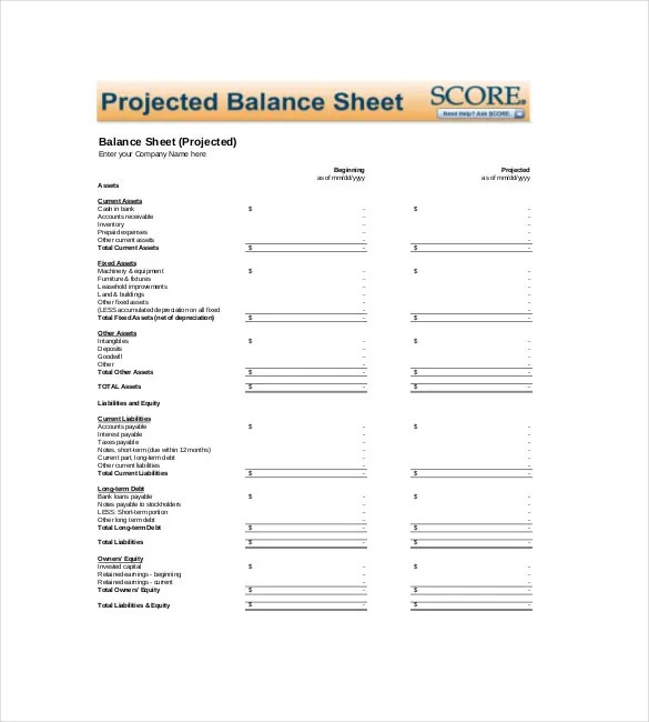 Sheet Template \u2013 18+ Free Word, Excel, PDF Documents Download Free - excel balance sheet template free download