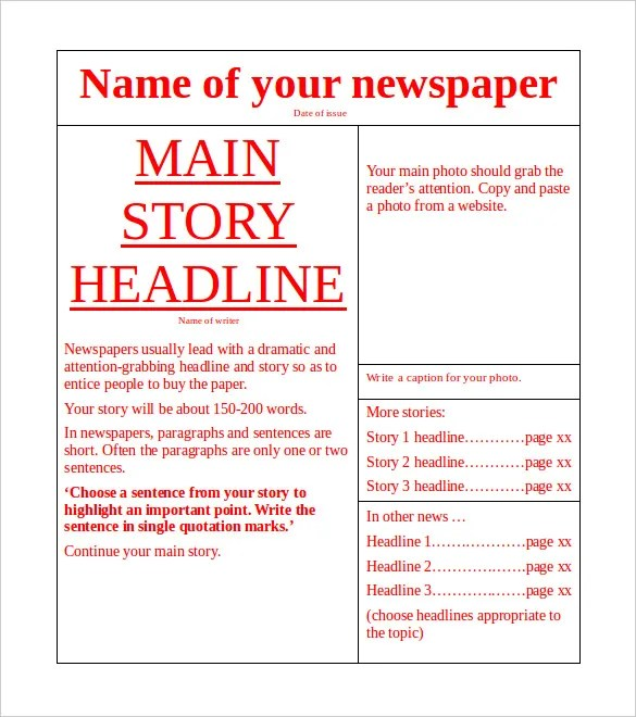 Newspaper Templates For Mac Pages - polarvin\u0027s diary