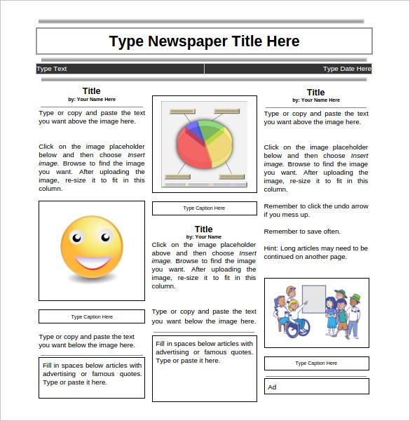 11+ News Paper Templates - Word, PDF, PSD, PPT Free  Premium