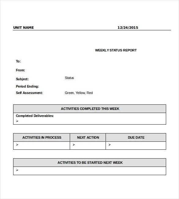 it report template for word - Towerssconstruction