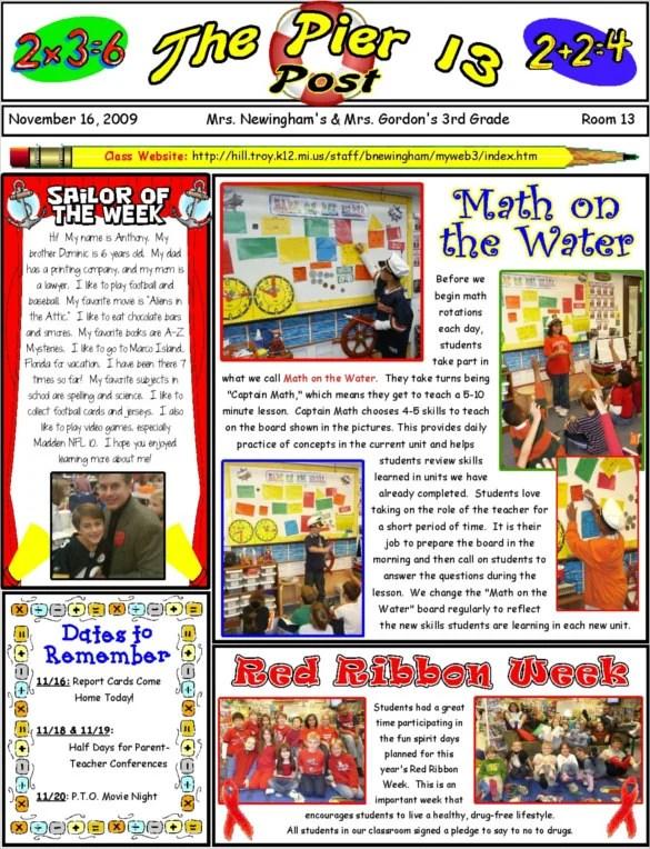 Newsletter Templates u2013 17+ Free Word, PDF, Publisher, InDesign - school newsletter templates