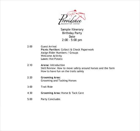 Itinerary Template \u2013 15+ Free Word, Excel, PDF Documents Download