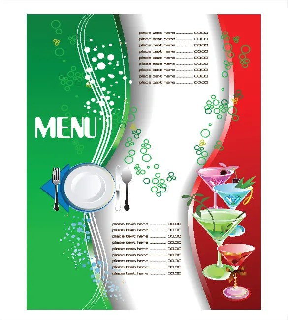 Menu Template u2013 27+ Free PSD, EPS, AI, InDesign, Word, PDF - free restaurant menu template word