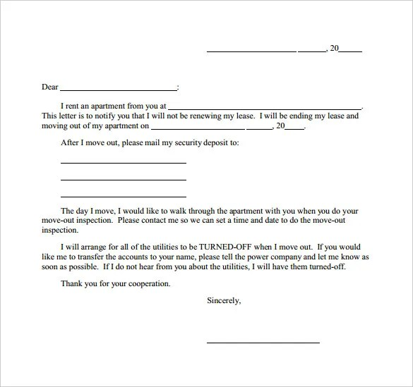 Termination Letters \u2013 21+ Free Word, PDF Documents Download! Free - termination of lease letter templates