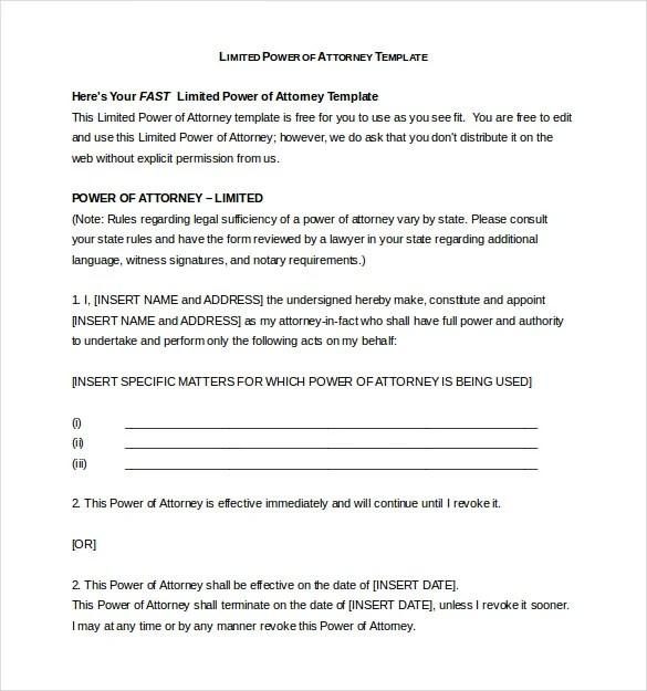 18+ Power of Attorney Templates - PDF, DOC Free  Premium Templates