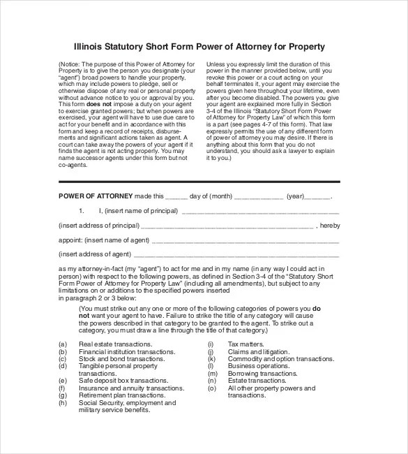 18+ Power of Attorney Templates - PDF, DOC Free  Premium Templates - power of attorney sample letters