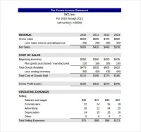 Income Statement Templates - 20+ Free Word, Excel, PDF ...
