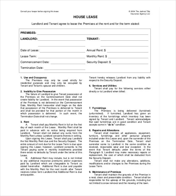 rental lease template word - Ozilalmanoof - printable rental contract