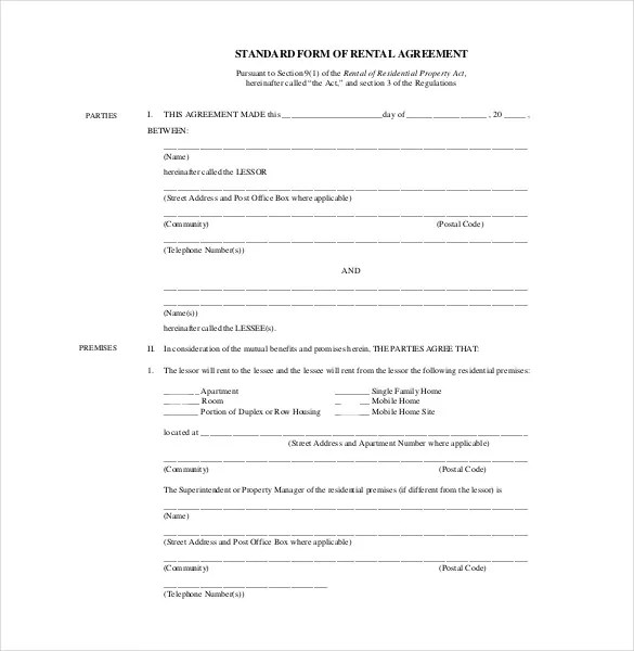 25+ Rental Agreement Templates - PDF, DOC Free  Premium Templates - lease agreement in pdf
