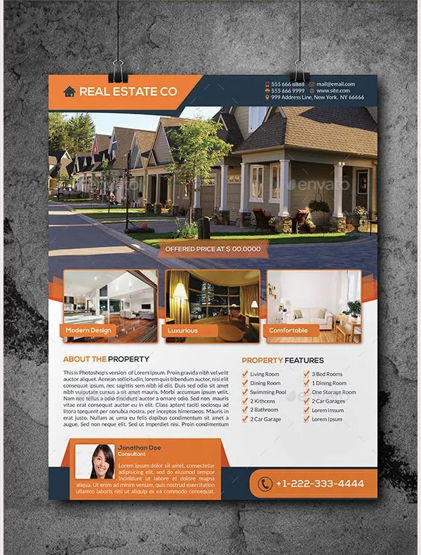 real estate flyer template word datariouruguay - free e flyers