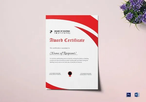 Word Certificate Template - 51+ Free Download Samples, Examples - Award Certificate Template Microsoft Word