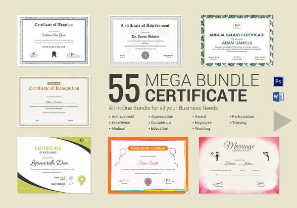 84+ PSD Certificate Templates - Free PSD Format Download Free - employee award certificate templates free