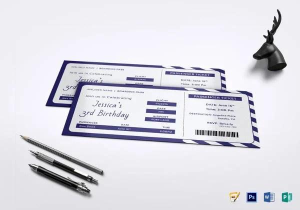 31+ Ticket Invitation Templates \u2013 Free Sample, Example, Format